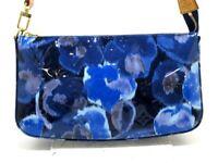 Auth LOUIS VUITTON Pochette Accessoires M90041 Grand Bleu Monogram Ikat Handbag