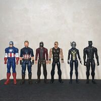 """Lot of 6 Marvel Avengers 12"""" Toy Action Figure Capt America Thor Black Panther🔥"""