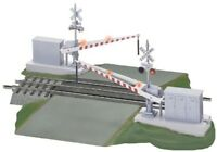 Lionel-FasTrack(TM) Track w/Roadbed - 3-Rail -- Grade Crossing w/Gates, Flashers