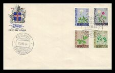 Iceland 1964 FDC, Flowers III. Lot # 15.