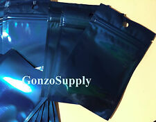3x5 50pc Solid Blue Ziplock Mylar Bags-Merchandise Packaging Crafts Food Snakcs