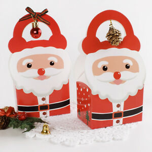 10-50X Christmas Santa Apple Party Paper Favour Gift Cupcake Lunch Carrier Boxes