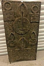 Carved African Baule 'Goli' Motif Window Door