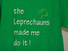 THE LEPRECHAUNS MADE ME DO IT KIDS 100% COTTON GREEN T SHIRT SMALL