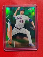 2020 Topps Chrome JACOB deGROM Green Wave Refractor SP 58/99 New York Mets