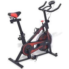 Vélo d'appartement avec capteurs de pouls Noir et rouge K9T6