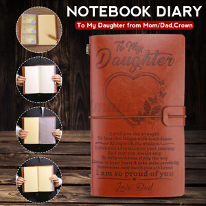 Notebook Diary To My Daughter Love Mom Or Dad Book Leather Cover Journal Diary