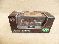 Autographed New 1997 Revell 1:43 Diecast NASCAR Chad Little John Deere Pontiac