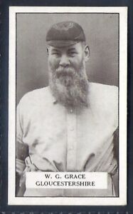 GALLAHER-FAMOUS CRICKETERS-#072- GLOUCESTERSHIRE - WG GRACE