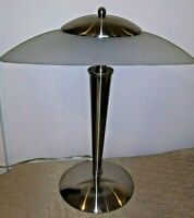 """17"""" Touch UFO Flying Saucer Accent Table Lamp Frosted Shade"""