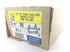 "Arlington 811 3/4"" EMT Set Screw Coupling Box of 17"