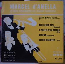 MARCEL D'ANELLA ET SON ORCHESTRE DE DANSE MODERNE FRENCH EP R.O.G