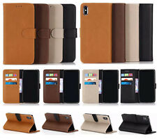 Flip Wallet Purse Leather Case, Card Holder Pocket Cover Pouch +Screen Protector