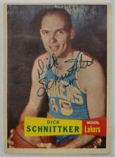 Dick Schnittker signed autographed 1957 MPLS Lakers trading card -VERY rare auto