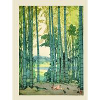 Yoshida Bamboo Grove Art Print Poster Hp3942