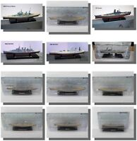 Warships and Battleships WW1, WW2, 1:1250 Scale