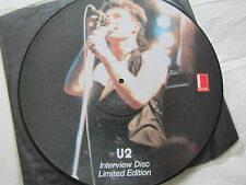 U2 'Limited Numbered Edition Interview Picture Disc Newcastle 1.3.83 Excellent