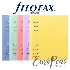 """Filofax """"Clipbook"""" Leather-Look A5 Refillable Notebook - Choose Pastel Colour"""