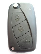 Replacement 3 button flip key case for Fiat Panda Punto Stilo Ducato remote key
