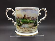 Small Two Handled Aynsley Mug Commemorating The Birth Of Prince William