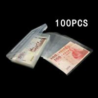 100x Paper Money Storage Album Currency Banknote Case Holder Collection W/ Box