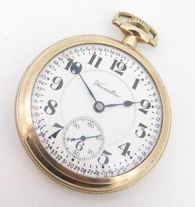 .1920 Hamilton 21 Jewel G/F OF Railroad Cal 992 Size 16s Pocket Watch
