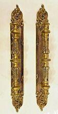 Pair Vintage Heavy Brass Door Push Pull Handles Spain