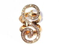 Damen Ring Penelope Metall-Legierung Zirkonia Gold plattiert