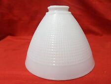VINTAGE ART DECO MILK GLASS TORCHIERE FLOOR LAMP SHADE GLOBE CORNING ??