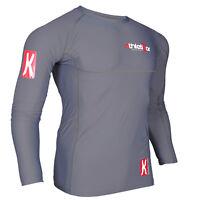 Kompressions T-Shirt in Premiumqualität_Spezielles Strechmaterial_ Farbe grau