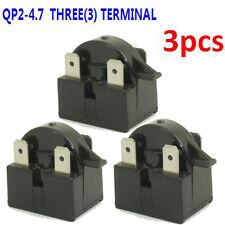 3× Qp2 4R7 Fridge Freezer Ptc Motor Start Relay Compressor Part For Ohm EdgeStar