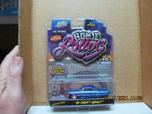 JADA TOYS HOMIE ROLLERZ '64 Chevy IMPALA BLUE (W/FIGURES ICE BLOCK & GATO) 1/64