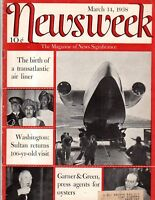 1938 Newsweek March 14 - Helen Keller; Al capone; Niemoller is freed; Baruch