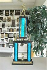 """HORSESHOE PITCHING LARGE TROPHY 22 3/4""""  TALL FREE LETTERING YOUR COLOR CHOICE"""