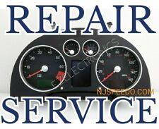 AUDI TT A3 A4 A6 S6, VW PASSAT INSTRUMENT CLUST REPAIR SERVICE 1998 TO 2005