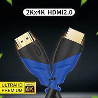 50FT 30FT 25FT 4K HDMI Cable 3D 2160p V2.0 For LCD DVD HDTV BLURAY XBOX PS4 Lot