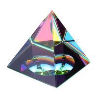 "2.3"" Crystal Iridescent Pyramid Rainbow Color Home Decor FengShui Reiki Healing"