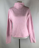Twiggy Womens Pullover Sweater Pink Angora Blend Funnel Neck Soft size XL