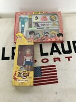 Vintage Sailor Moon Bandai (2000) Adventure Doll Toy Figure+study Set In Package