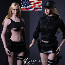 "1/6 Tactical Military Jacket Skirt Set For 12"" Phicen Hot Toys Female Figure USA"