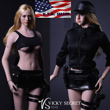 "1/6 Tactical Military Jacket Skirt Set For 12"" Phicen Hot Toys Female Figure"