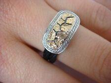 STRIKING, CHARRIOL DESIGNER RING, 18K GOLD, STAINLESS STEEL AND ROSE CUT DIAMOND