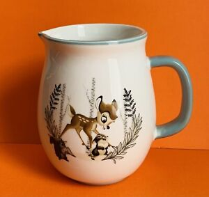 Disney Bambi Milk Jug Deer Porcelain New Tagged Homeware