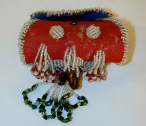 Beautiful Seed Beads Decorated Antique Native American Small Purse