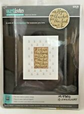 """2015 Counted Cross Stitch Embroidery Kit """"Hope Is An Anchor"""" 10x13 Picture 2437F"""