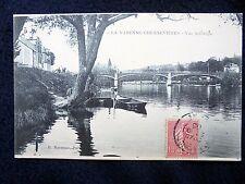 OLD PPC: LA VARENNE-CHENNEVIÈRES~SHIPS~BRIDGE~ANIMATED~ca.1906