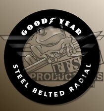 "[FFSMC Productions] 1/8 Decals Goodyear ""Steel Belted Radial"" (x9)"