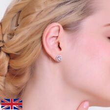 Beautiful Platinum Plated RZ Crystal Stud Elegant Earrings for Women - UK