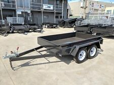 8x5 STANDARD TANDEM BOX TRAILER | FIXED FRONT | NEW WHEELS + TYRES