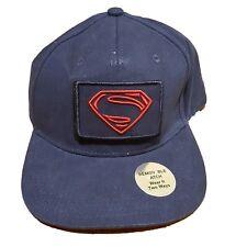 GAP Superman Justice League Strapback Hat Navy Blue Removable Patch 155628-00-1